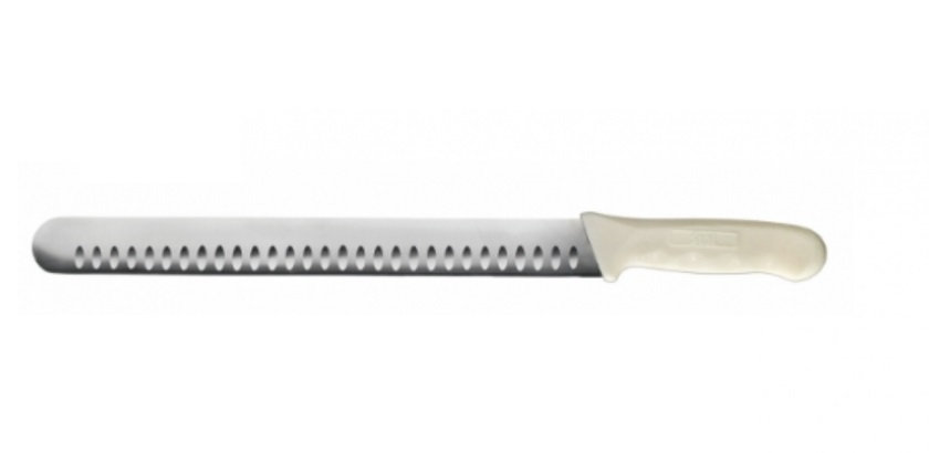 """12"""" Hollow Ground Slicer, Wide, White PP Hdl"""