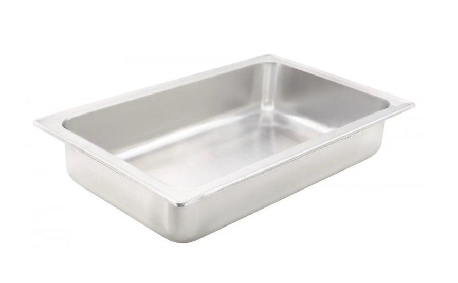 """Water Pan, Full-size, 4"""", Dripless, S/S"""