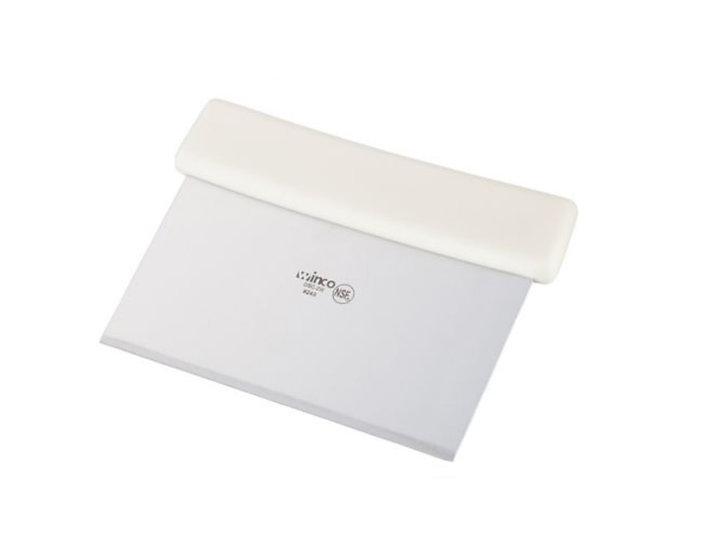 Dough Scraper, White Plastic Hdl, S/S Blade