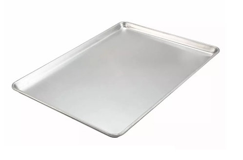 "Winco 1/1 Full Size Bun / Sheet Pan - 26"" x 18"", 18 gauge Aluminum"
