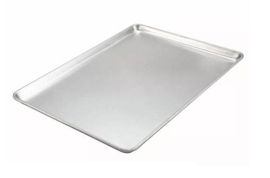 """Winco 1/1 Full Sheet Pan - 26"""" x 18"""", 18 gauge Aluminum"""