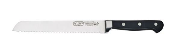 """ACERO 8"""" Bread Knife, Triple Riveted, Full Tang Forged Blade"""
