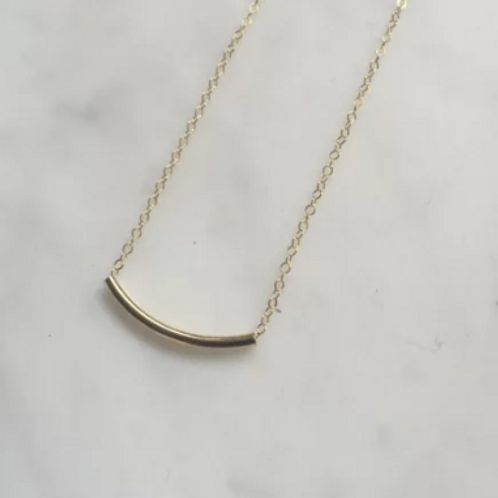 Gold Filled Tube Necklace - 14 Gold Filled