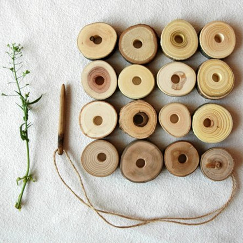 Wooden Lacing Toy - Circles