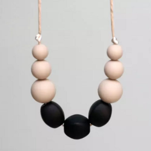 Teething Necklace - James in Taupe