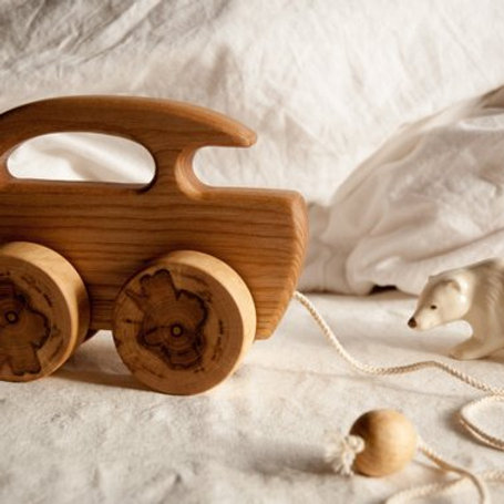 Wooden Bus Pull Toy