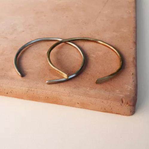 Full Round Hammered Cuff Bracelet