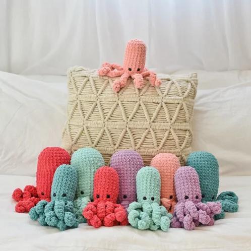 Hand Crochet Octopus Stuffed Toy