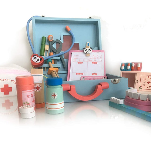 Wooden Doctor Kit - Pretend Medical Play Set