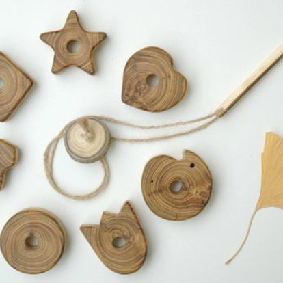 Wooden Lacing Toy - Tulip