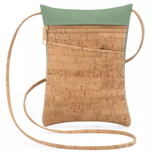 Be Lively Mini Cross Body Bag | Rustic Cork + Faux Leather