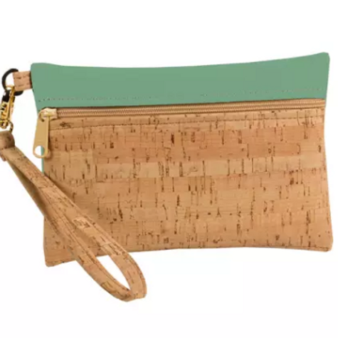 Be Ready Small Wristlet | Cork + Faux Leather