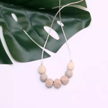 Teething Necklace - Stella in Cream