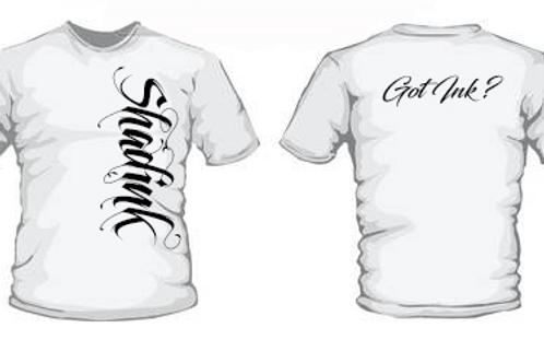 ShadInk White T-Shirt