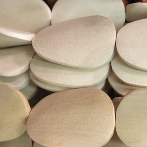 White wood Twisted Oval