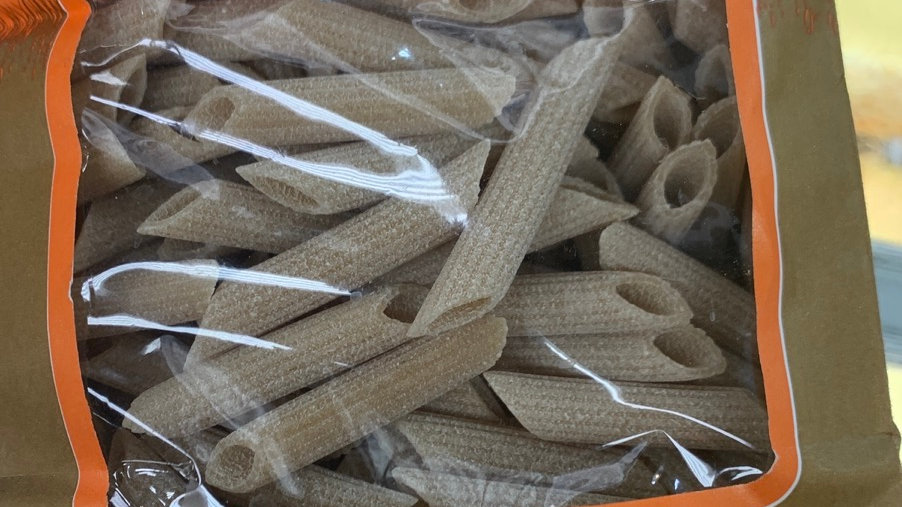 Organic wholewheat. penne pigate