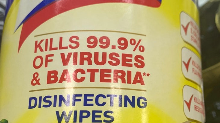 Large Lysol disinfecting wipes