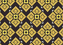 Yellow Geometric Pattern Eid al-Fitr Car