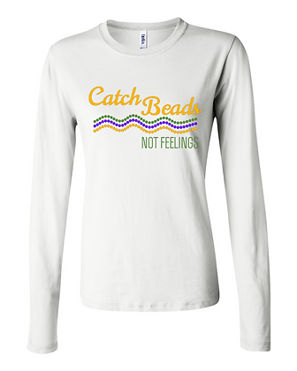 Catch Beads, Not Feelings (Waves) - Long-Sleeve Women's Tee