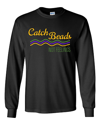 Catch Beads, Not Feelings (Waves) - Long-Sleeve T-Shirt