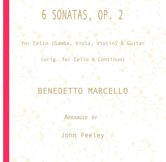 6 Sonatas for guitar & Cello (Gamba, Viola, Violin) by B. Marcello