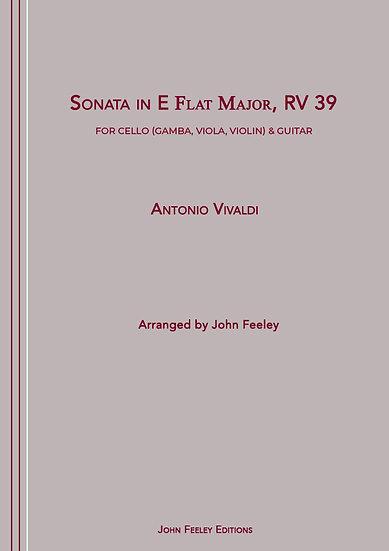 Sonata in Eb, RV39:  Cello (Gamba, Viola, Violin) & Guitar: A. Vivaldi