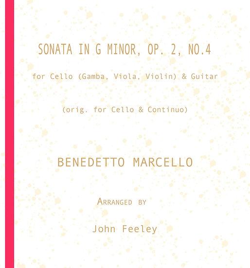 Sonata in G Minor, Op. 2-4:  Cello (Gamba, Viola, Violin) & Guitar: B. Marcello