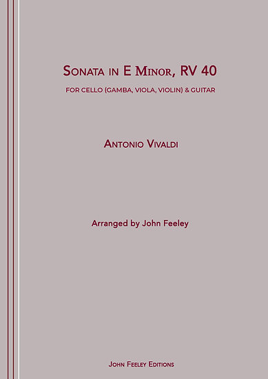 Sonata in E Minor, RV 40 for Cello and Guitar by Antonio Vivaldi.