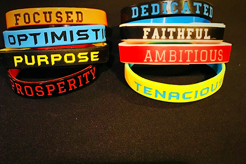 """""""Curtis Inspirational Quoted Wristbands"""""""