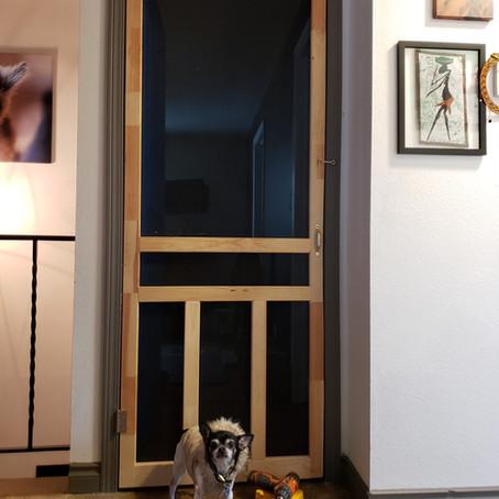 Installing the screen door of peace