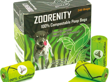 100% compostable poop bags from Zoorenity