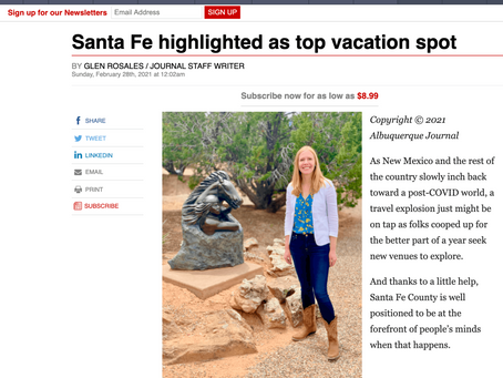 Albuquerque Journal Features Darley Vacations' Santa Fe Itineraries