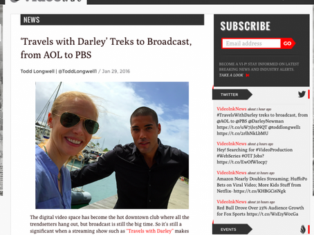 VideoInk Features Travels with Darley's Jump from AOL to PBS