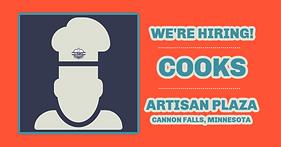 Hiring Cooks Cannon Falls, MN