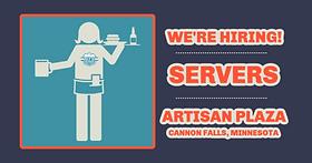Hiring Servers Cannon Falls, MN