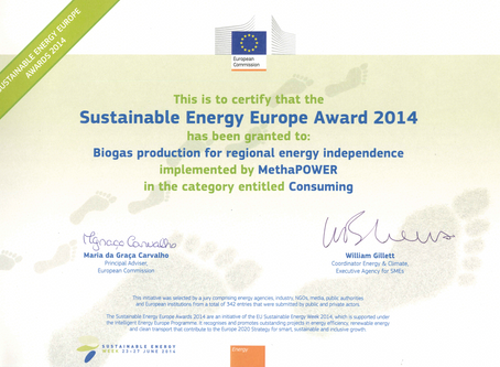 Sustainable Energy Europe Award 2014