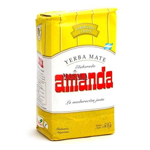 YERBA MATE AMANDA LIMON 500 GRS.
