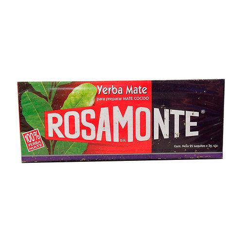 MATE COCIDO ROSAMONTE 25 SAQUITOS.