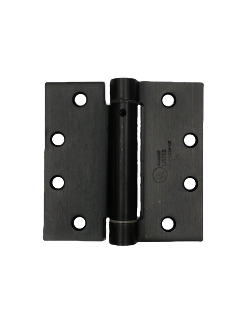 """4.5""""X4.5"""" SPRING HINGES US10B OIL RUBBED BRONZE"""