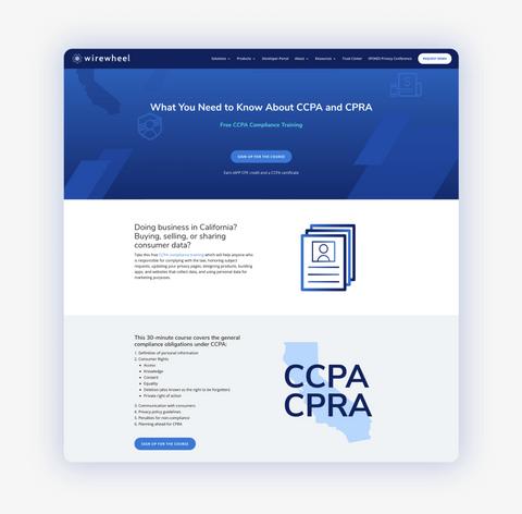 Free CCPA Training - Landin Page