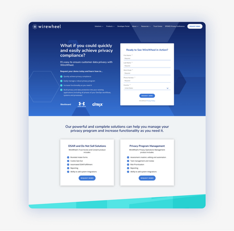 Demo Request - Landing Page