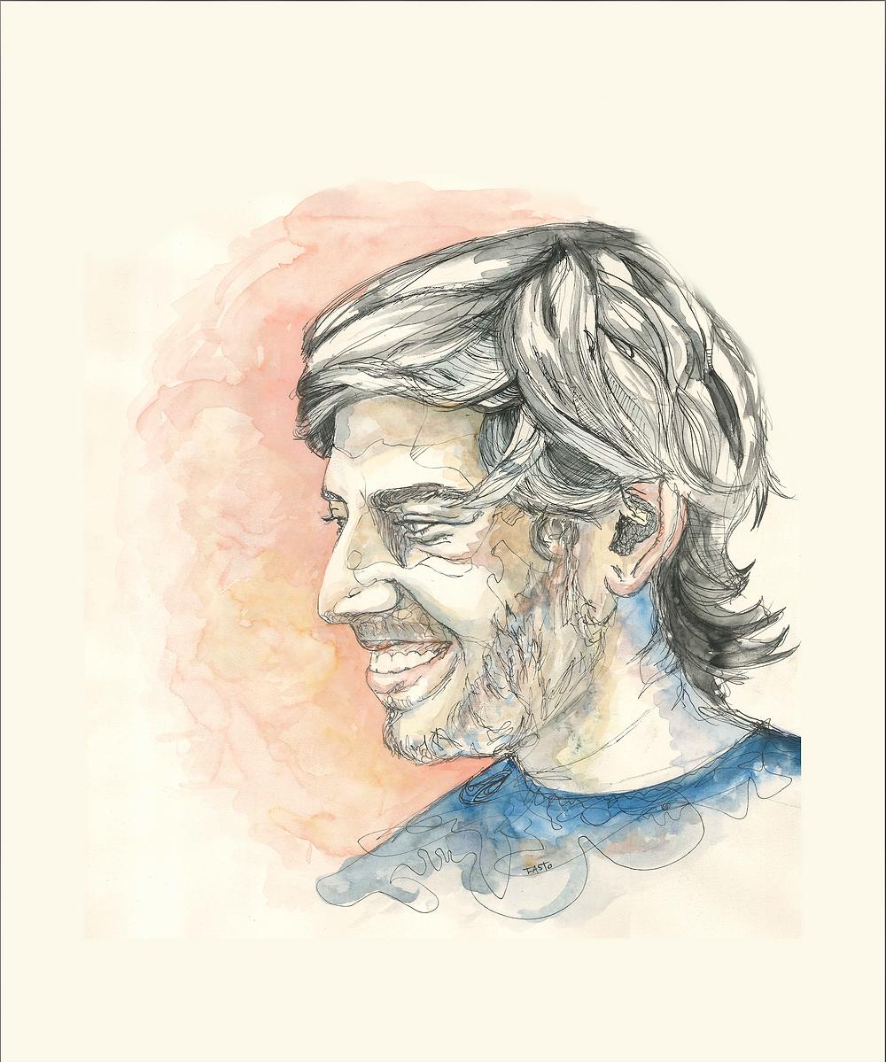 Portrait Aaron Swartz par Fasto