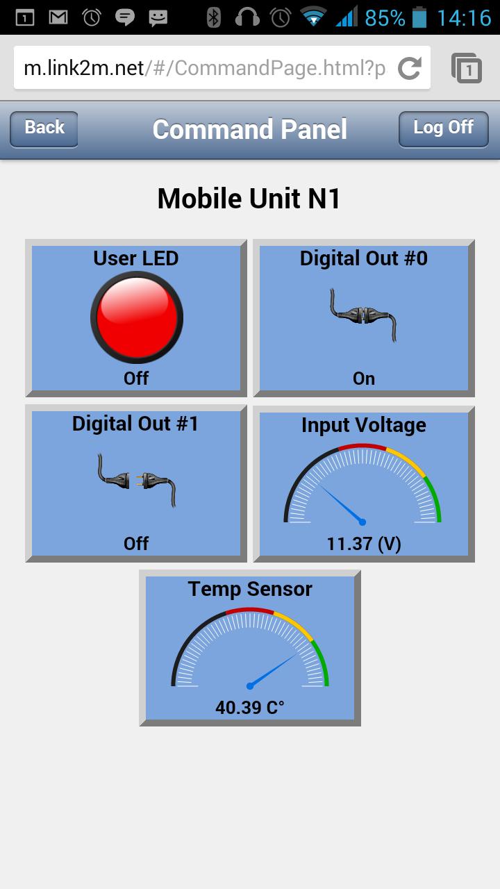 Link2M-Mob app: Interactive Control