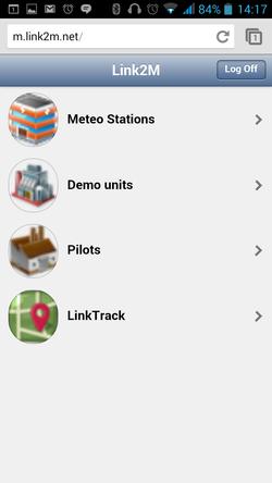 Link2M-Mobile app: Main Level