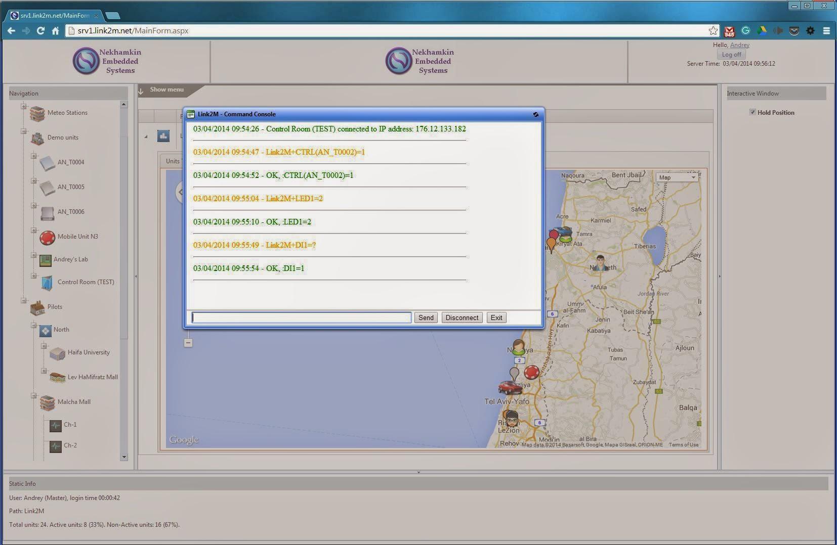 Link2M-Web: Web Command Console