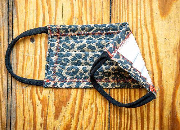 Eva Photography Mund-Nase-Abdeckung Maske mit Nasenbügel Leo-Print handmade