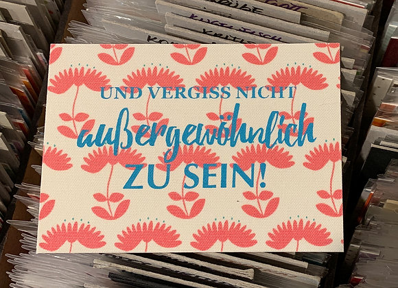 jackymatus DESIGN Stoffpostkarte Siebdruck Außergewöhnlich