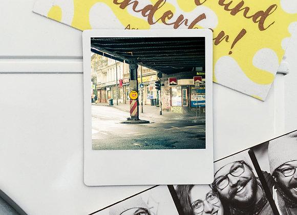 """Magnet """"Herz Sternbrücke"""" in Polaroid-Optik (3 Stk. für 12€"""