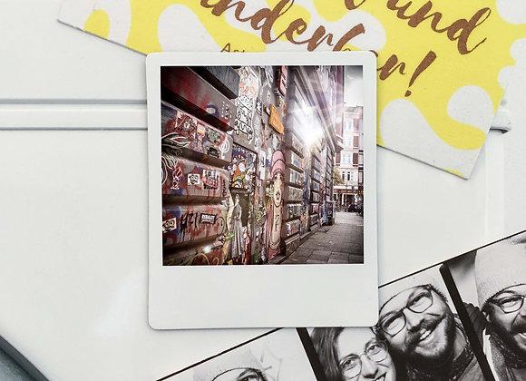 """Magnet """"Graffiti Sternschanze"""" in Polaroid-Optik (3 Stk. für 12€"""