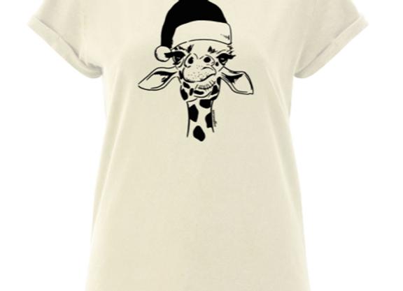 VON SANDLASS Damenshirt mit Giraffe in Ecru